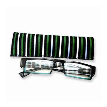 Blue & Green Stripes 1.25 Magnification Reading Glasses