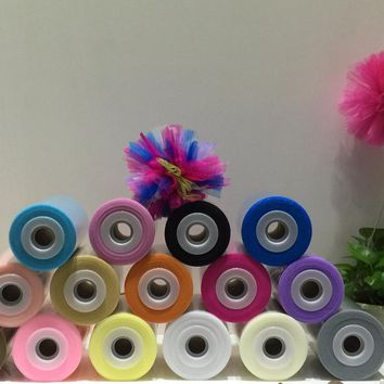 2017 New Arrival 40 Colors Tutu Tulle 100% Nylon Soft Tulle  Roll 100Yards