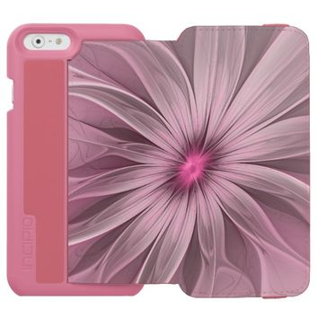 Pink Flower Waiting For A Bee Abstract Fractal Art iPhone 6/6s Wallet Case