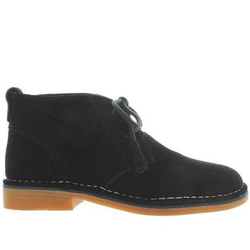 Hush Puppies Cyra Catelyn   Black Suede Chukka Boot