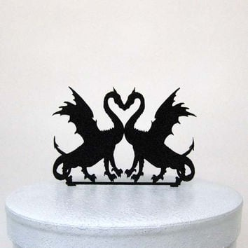 Wedding Cake Topper - Two Dragons in Love from Plasticsmith on
