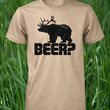 Beer Shirt Bear Deer Shirt Funny Drinking Shirt Funny Beer Tee Mens T Shirt Humorous Guys L XL