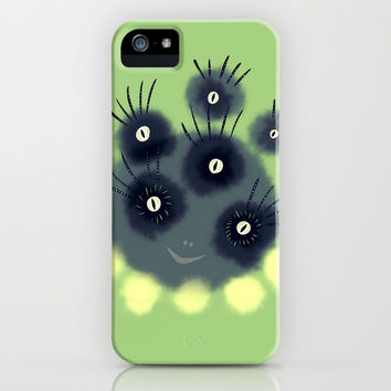 Creepy Cute Spider Face Monster iPhone Case by borianagiormova