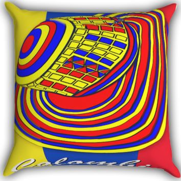 Colombia Colombian Flag Zippered Pillows  Covers 16x16, 18x18, 20x20 Inches
