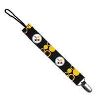 Baby Fanatic Pacifier Clip - NFL Pittsburgh Steelers