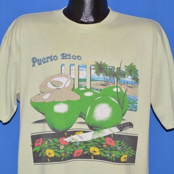 80s Puerto Rico Coconut Palm Tree t-shirt Extra Large