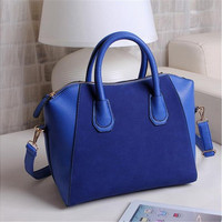 Women Fashion Frosted PU Leather Shoulder Bag [10198254151]