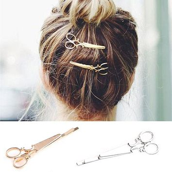 1 pair Women Lady Girls Scissors Shape Hair Clip Nice Hair Pin Hair Barrettes Decorations Hair Accessories