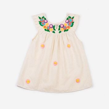 AKSHU & ING OFF WHITE DAISY DRESS