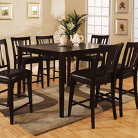 Hokku Designs Bridgette 7 Piece Counter Height Dining Set