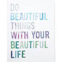 Fringe Studio Do Beautiful Things Notebook