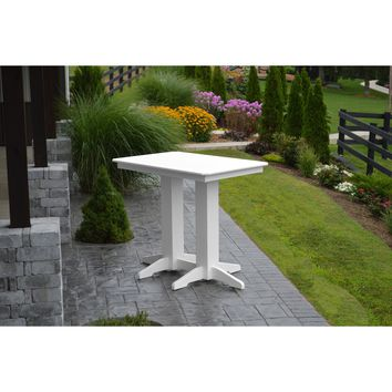 """A & L Furniture Recycled Plastic 48"""" x 33""""  Bar Table  - Ships FREE in 5-7 Business days"""