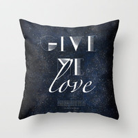 Ed Sheeran: Give Me Love Throw Pillow by MaFleur | Society6