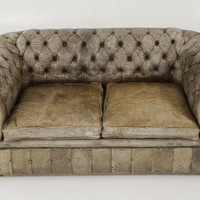 Lucca Antiques - Seating: 19th Century English Chesterfield Loveseat