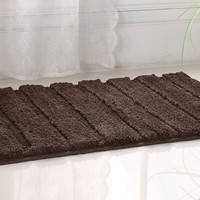 "WestBrook High Pile Microfiber Bath Rug 21x34"" Brown"