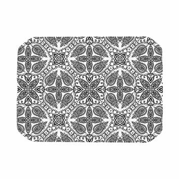 "Nandita Singh ""Boho In Black And White"" Grey Pattern Place Mat"