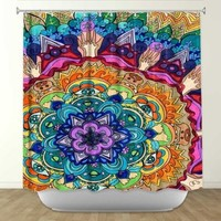 DiaNoche Designs Shower Curtains by Rachel Brown Unique, Cool, Fun, Funky, Stylish, Decorative Home Decor and Bathroom Ideas - Microcosm Mandala