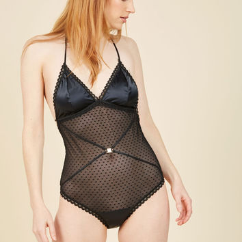 Girls' Night Haute Bodysuit | Mod Retro Vintage Underwear | ModCloth.com