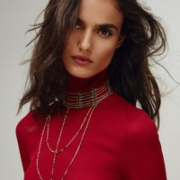 Free People Lotus Layered Choker Rosary