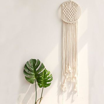 Macrame Wall Hanging Cream cotton Heart Macrame Wedding Ceremony Backdrop Home Decor Tapestry Home Decor boho wall hanging