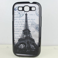 Retro The Eiffel Tower Hard Case Cover for Samsung Galaxy S3 i9300