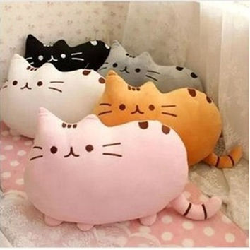 Cartoon Soft Pusheen Cat Shape Cushion Plush Toys Halloween Black Cats 40*30cm Stuffed Animal Plush Toy Gift for Children Pillow