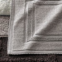 Cotton bath rugs restoration hardware from restoration hardware for Restoration hardware bathroom rugs