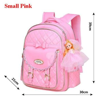 Cool Backpack school COOL BABY Hot Sale Children School Bags High Quality Girls Backpack Fashion Child Book Bag Sweet PU School Backpacks 2018 M692 AT_52_3