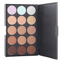 Kolight® Professional 15 Color Cream Concealer Camouflage Foundation Makeup Palette Contour Face Contouring Kit