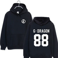G Dragon Korean pop Kpop Hoodie Hooded Sweatshirt Big bang swag hipster hip hop Last dance concert SQ12017