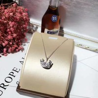 Tiffany fashion trend 925 sterling silver crown necklace high quality Tiffany Project Type: Necklace