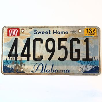 2013 Alabama Sweet Home License Plate 44C95G1