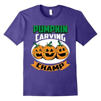 Funny Cute Halloween Pumpkin Carving Champ Competition Shirt