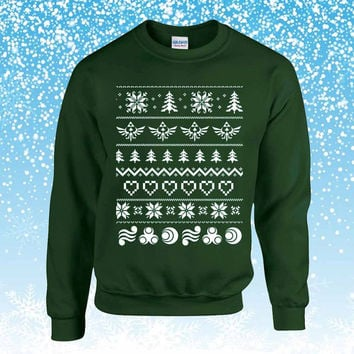 The Legend of Zelda Ugly Christmas Sweater sweatshirt unisex adults