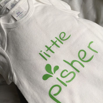 Little Pisher Baby one piece - Funny Hanukkah bodysuit - Chanukah clothing - Jewish Yiddish inspired - Creeper