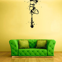 rvz1761 Wall Decal Vinyl Sticker Music Concert Hand Arm Mic Microphone Audio