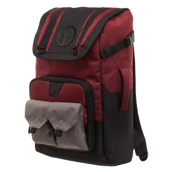 Marvel Deadpool Backpack  Black and Red Deadpool Backpack