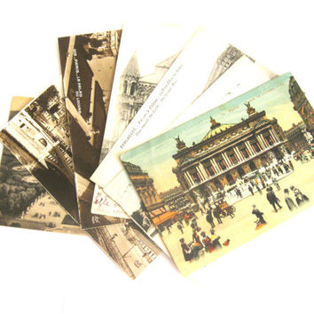Set of 7 French Postcard 1900s to 1930s