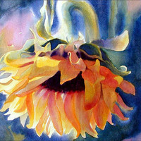 Sunflower Watercolor Print - 7x5 - Alisa Wilcher