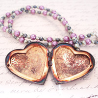 Locket Necklace, Heart Necklace