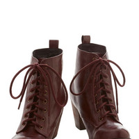 Chelsea Crew Urban Step it Upright Bootie in Wine