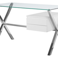Beverly Desk, White, Small, Standard Desks