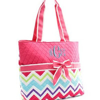 Multi Chevron Diaper Bag