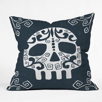 Heather Dutton Mascara de muerte Throw Pillow
