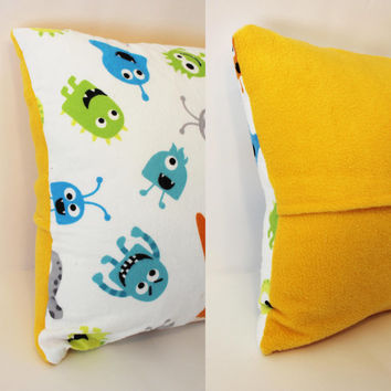 Ready to Ship - Monsters Creatures Decorative Fleece Pillow Case Cover Size 14x14