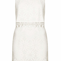CROP OVERLAY WHEEL LACE DRESS