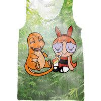 Charmander and Blossom Blaze Tank Top