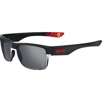 Oakley Limited Edition Ferrari Twoface Sunglasses Matte Black/Black Irid, One