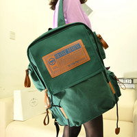 On Sale Stylish Back To School Hot Deal Casual College Comfort Korean Canvas Vintage Bags Backpack [6582697927]