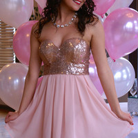 Holiday Sweetie Dress: Pink